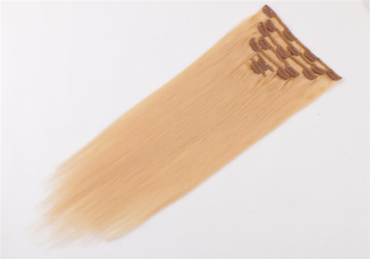 Wholesale china natural hair clip in hair extensions manufacturers QM033